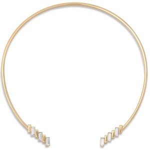 NWT Michael Kors Gold Baguette Collar Necklace
